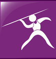 Sport icon design for javelin vector image vector image