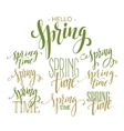 Spring Time Hello Spring lettering set vector image