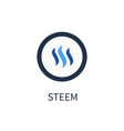 steem cryptocurrency icon vector image