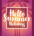 summer travel banner with palm trees vector image vector image
