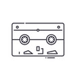 tape backup icon linear isolated
