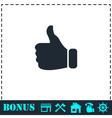Thumb Up icon flat vector image