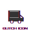 truck icon flat vector image vector image