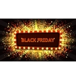 Web banner with glowing lamps for Black friday vector image vector image