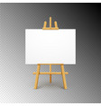 wooden easel canvas board isolated stand blank vector image vector image