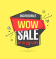 wow sale banner template in flat trendy memphis vector image vector image