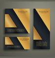 abstract geometric premium golden banner design