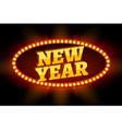 Neon retro billboard new year sign Christmas vector image