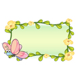 A butterfly and a flower frame vector image vector image