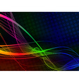 Abstract color wave halftone vector image vector image