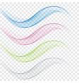 abstract wavy lines in the form of a wave set of vector image