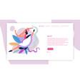 ballet school online landing web page template vector image vector image
