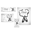 black ballet shoes on poster visit card banner vector image