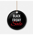 black friday sale label with rope transparent vector image vector image