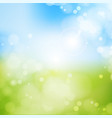 blurry background spring blue sky with glaring vector image vector image