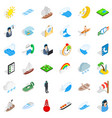 boat business icons set isometric style vector image vector image