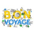 Bon Voyage Concept with icons and elements