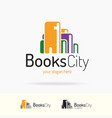 book logo trendy flat style vector image vector image