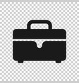briefcase sign icon in transparent style suitcase vector image