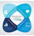 Business Infographic Elements Flower Design vector image