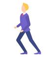cartoon character businessman wearing stylish vector image vector image