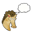 cartoon horse head with thought bubble vector image vector image
