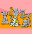 cats group cartoon vector image