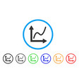 chart rounded icon vector image vector image