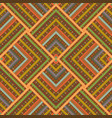colorful geometric ethnic pattern vector image vector image