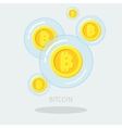 Concept of digital currency vector image vector image