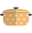 cooking pot icon flat isolated vector image