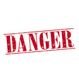 danger red grunge vintage stamp isolated on white vector image