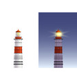 day night lighthouse vector image vector image