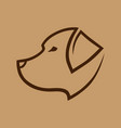 dog head symbol icon vector image vector image