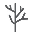 dry wood glyph icon tree and lumber branch sign vector image