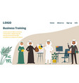 east asia arabic business training landing web vector image vector image