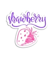 eco friendly strawberry concept - design vector image vector image