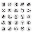 ecology icons set on circles background for vector image