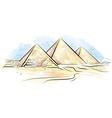 egypt piramids of giza vector image