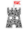fortress tower mosaic of triangles vector image vector image