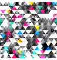 grunge triangles seamless pattern vector image vector image