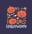 halloween holiday square banner design with candy vector image vector image