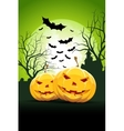Halloween Party Card with Pumpkins vector image vector image