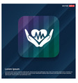 heart ecg in hand icon vector image