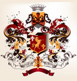 heraldic design in vintage style with shield vector image vector image