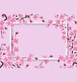 horizontal sakura or cherry tree with blossom vector image vector image