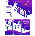 isometric development and creation a website vector image