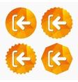 Login sign icon Sign in symbol Arrow vector image vector image