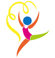 Logo design for gymnastics vector image vector image