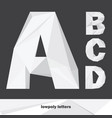 lowpoly letters a b c d isolated on dark vector image